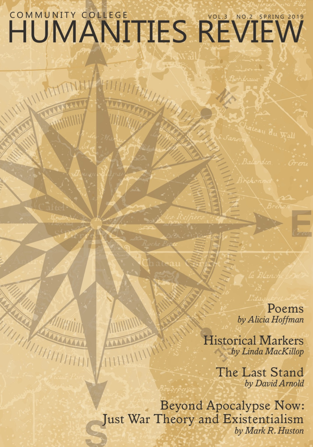 Yellow compass rose cover of the spring 2019 CCHR