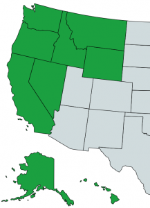 Pacific Western Division Map