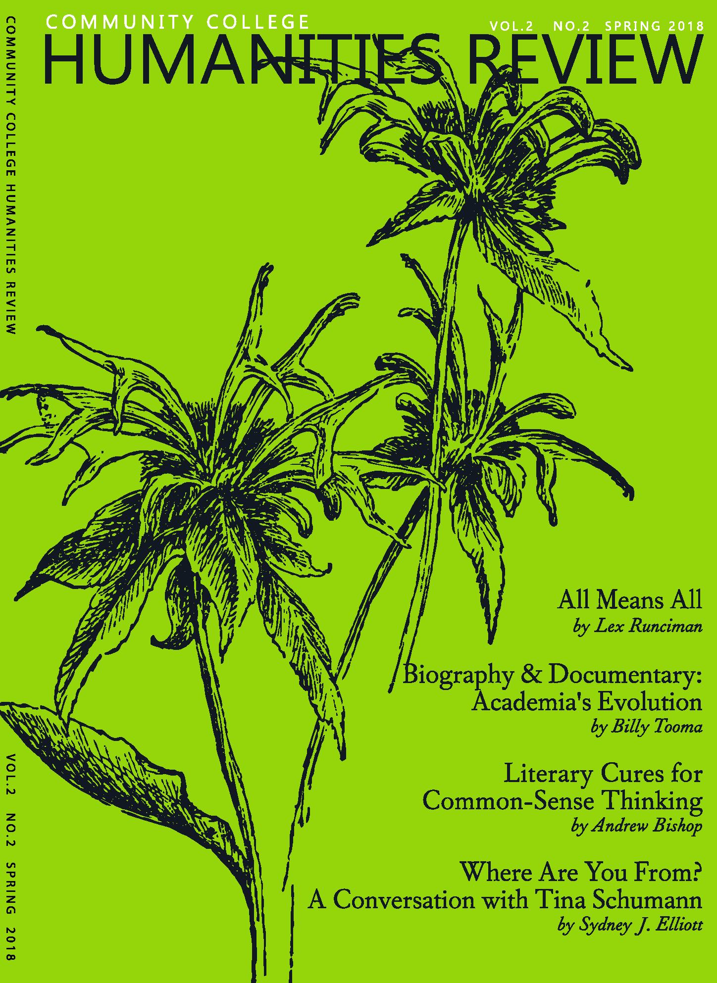 CCHR Cover- Spring 2018