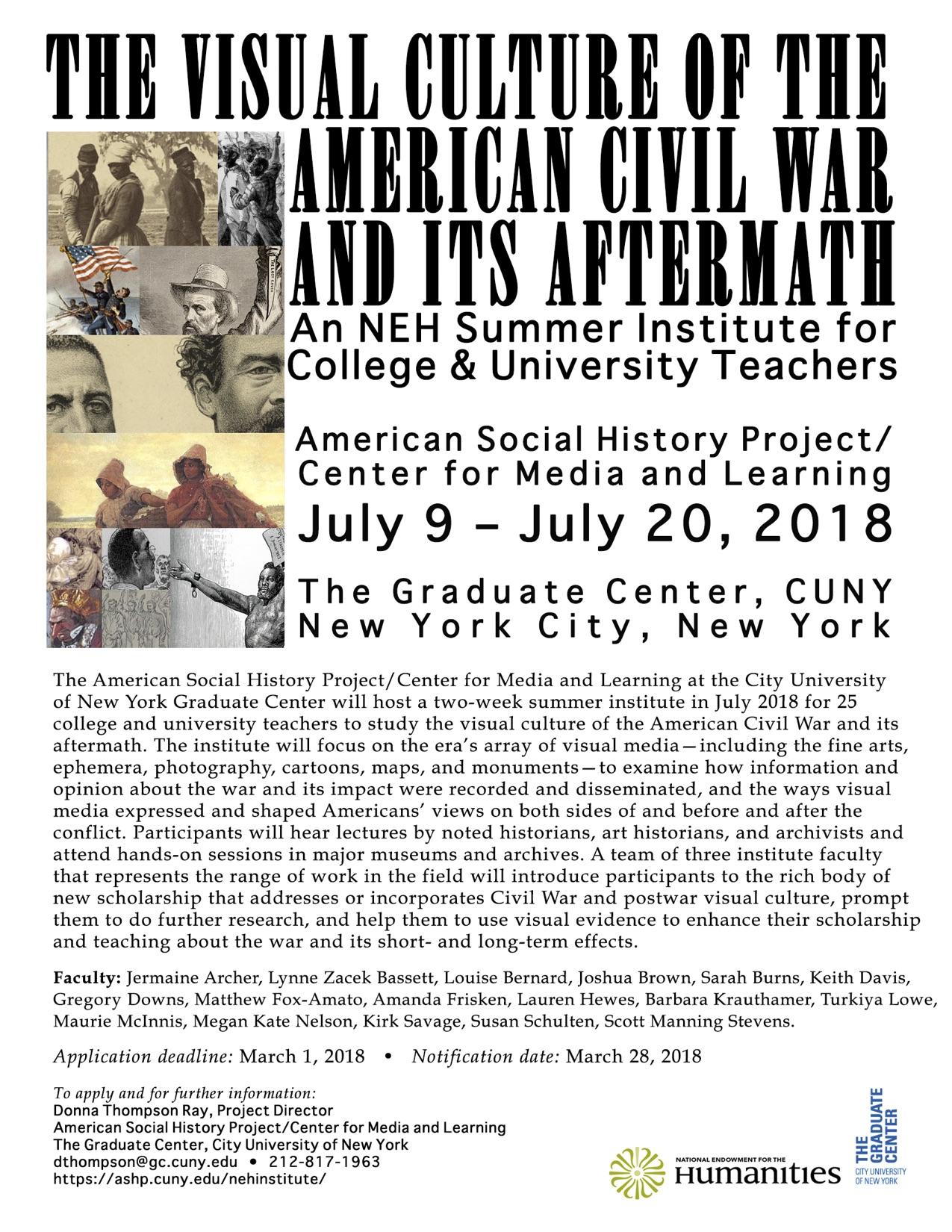NEH Civil War Info