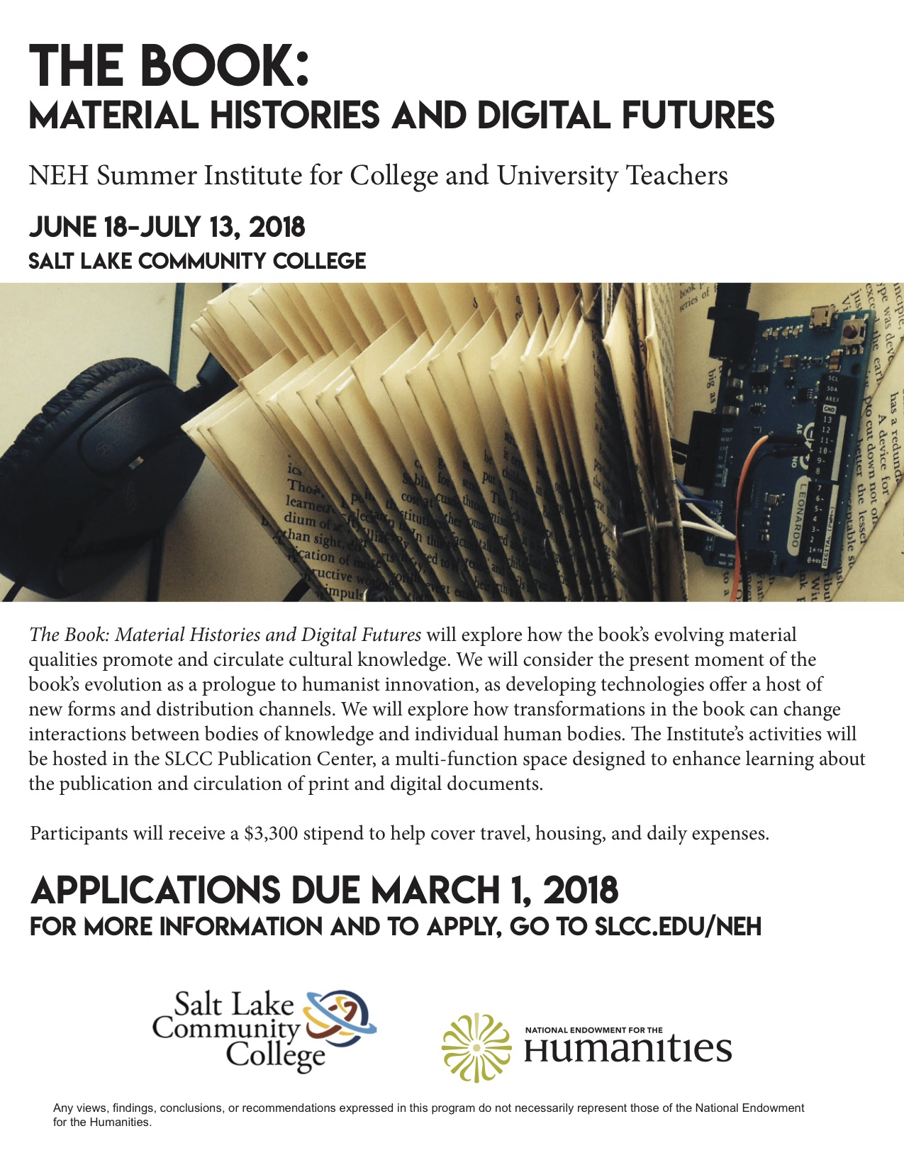 SLCC NEH Institute Flier