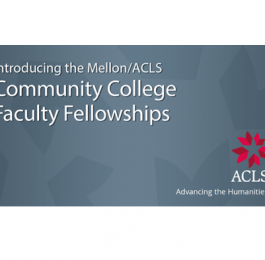 ACLS Community College Faculty Fellowships Logo