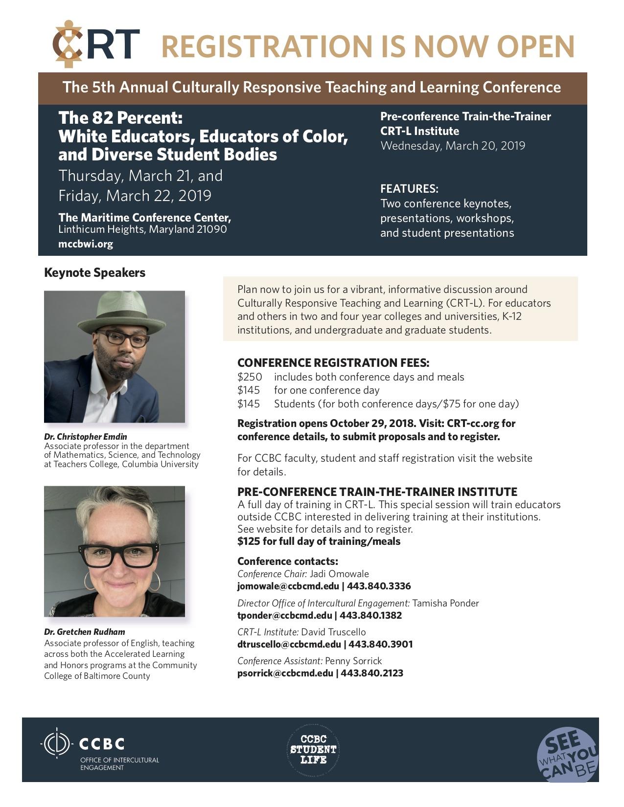 2019 CRT Conference Flier
