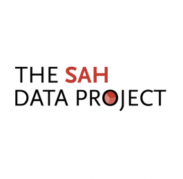 "Text reading ""The SAH Data Project"" in black and red on a white background."